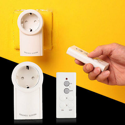Wireless Remote Control Energy Saving Long Distance Light Switch Socket EU Plug