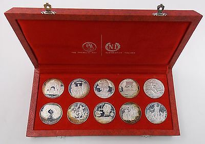 1969 Republic Tunisienne Sterling Silver 10 Coin Proof Set Franklin Mint (#5266)