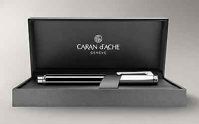 Brand New Authentic Caran d'Ache Varius CHINABLACK Fountain Pen Silver Plated