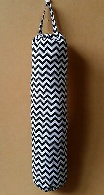 Handmade Chevron zig zag Black Plastic Grocery bag Holder Mother's day gift idea
