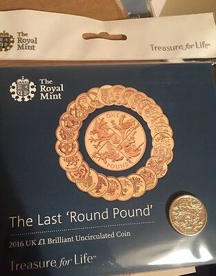 The Last Round Pound 2016 Royal Mint Brilliant Uncirculated £1