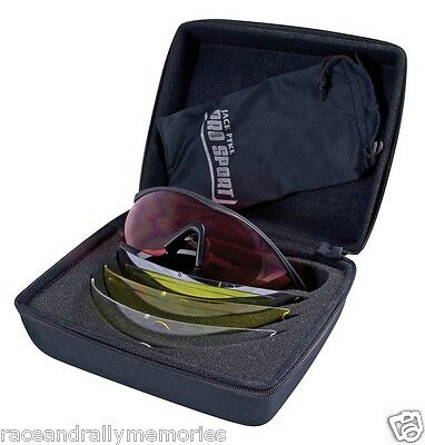 Pro Sport GP Clay Game Shooting Glasses Yellow Red Clear Tinted 4 Lenses Cased
