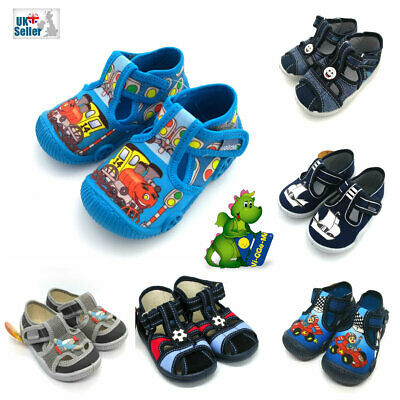 BABY BOY SANDALS SLIPPERS TODDLER KIDS Nursery School SIZES UK 2.5-7 Made in EU