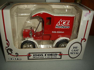 Ertl Boxed Ace Hardware Fifth Edition 1905 Ford Delivery Car Bank 1993 #1233 NEW