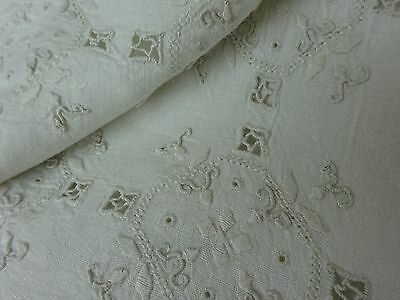 Stunning Embroidered Linen Tablecloth Antique Wedding Banquet Monogram D French
