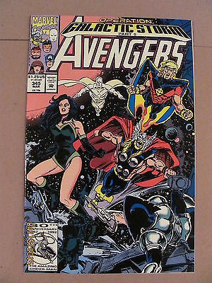 Avengers #345 Marvel Operation Galactic Storm Part 5 crossover 9.2 Near Mint-