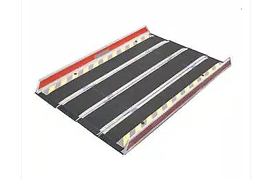 Wheelchair ramp lightweight DECPAC-Edge Barrier Limited fiberglass folding 15...