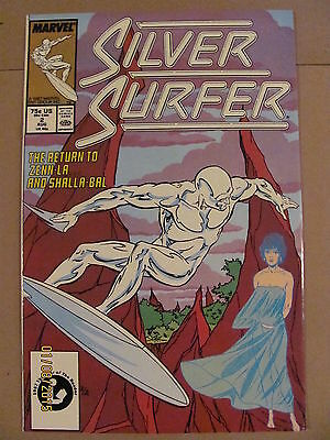Silver Surfer #2 Marvel Comics 1987 Series 9.2 Near Mint