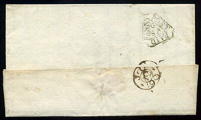 1790 General London DOCKWRA to Witham Essex with TIME MARK