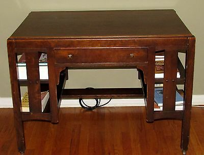 Antique Signed LIMBERT ARTS & CRAFTS Library Table Desk #132  Ca 1920s mission