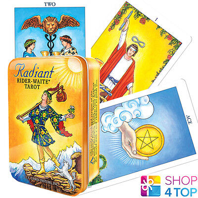 Radiant Raider-Waite Tarot Tin Box Deck Cards Esoteric Telling Small New