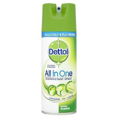 1x Dettol All in One Disinfectant Spray Spring Waterfall 400 ml