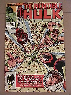 Incredible Hulk #316 Marvel Comics