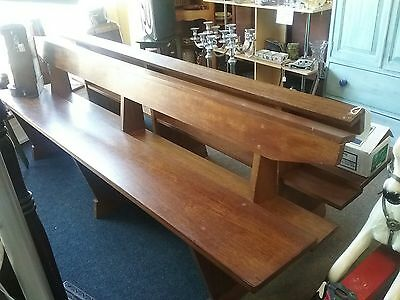Church pew style solid wooden bench