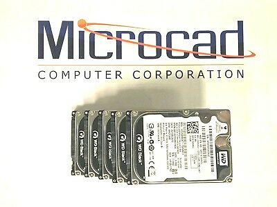 "(Lot of 5) Western Digital Black 250Gb 2.5"" Hard Drive (7200RPM)"