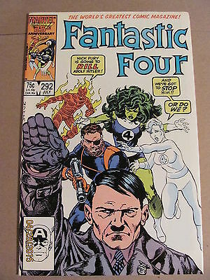 Fantastic Four #292 Marvel Comics 1961 Series Hitler Cover 9.2 Near Mint-