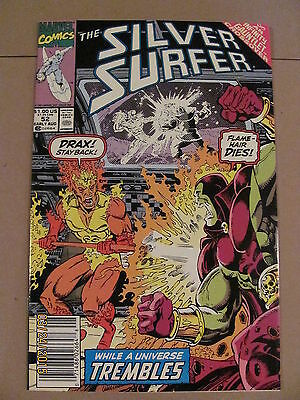 Silver Surfer #52 Marvel  Infinity Gauntlet Crossover Drax app Newsstand Edition