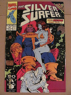 Silver Surfer #56 Marvel 1987 Series Infinity Gauntlet Crossover Thanos app