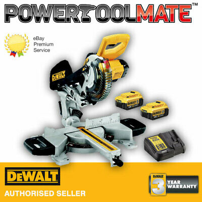 Dewalt DCS365P2 18V Cordless XPS 184mm Mitre Saw Kit with 2 x 5.0Ah Battery