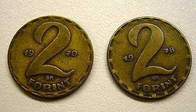 1970 & 1978 Bp 2 Forint Hungary Coin