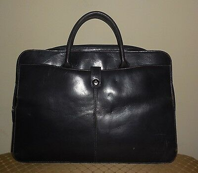 Lodis Dark Gray Leather Laptop Briefcase Business Tote Womens Unisex Handbag