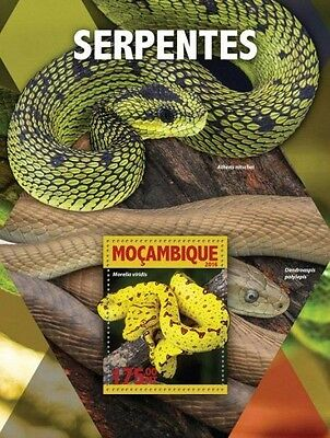 Z08 IMPERFORATED MOZ16119b MOZAMBIQUE 2016 Snakes MNH