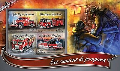 Z08 IMPERFORATED TG16305a TOGO 2016 Fire trucks MNH