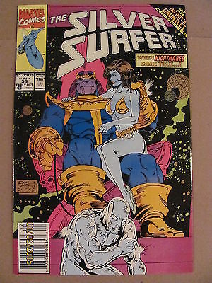 Silver Surfer #56 Marvel 1987 Series Infinity Gauntlet Thanos Newsstand Edition
