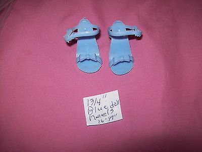 """1  Pair of 1 3/4""""  Blue Heels for an 16"""" to 17"""" Doll  # 9"""