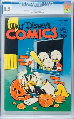 CGC VF+ 8.5 Walt Disney's Comics # 38 ( 1943 )