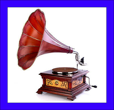 Rare Antique Spanish His Master's Voice Phonograph Model 5. Spain, 1922