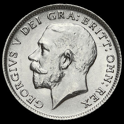 1911 George V Silver Sixpence, A/UNC