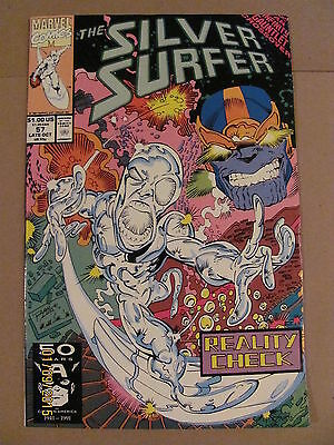 Silver Surfer #57 Marvel 1987 Series Infinity Gauntlet Crossover Thanos app