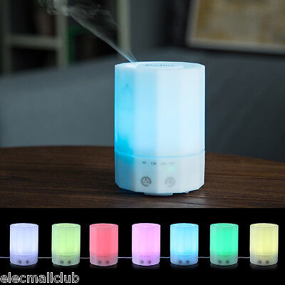200ml Portable Essential Diffuser Air Mist Aromatherapy Purifier LED Night Light