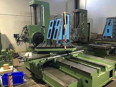 "Tos W100 4"" Table Type Manual Boring Mill With 4-Axis Dro"