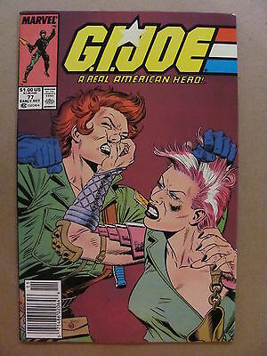 GI Joe A Real American Hero #77 Marvel Comics 1982 Series Newsstand Edition 9.2
