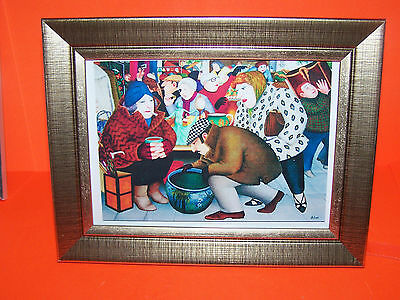 Beryl Cook Print Mounted And Framed A18