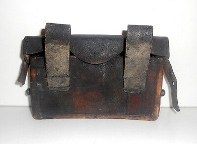 Antique Leather Military Ammo Bag/Satchel Berlik?