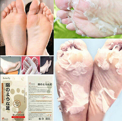 Butterfly Baby Foot Peeling Renewal Mask Remove Dead Skin Cuticles Heel x1
