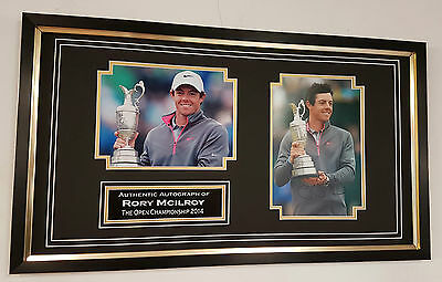 *** Rare RORY MCILROY Signed PHOTO PICTURE Display ***