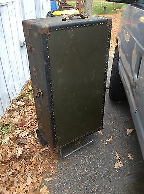 Antique Steamer Ship Wardrobe Trunk