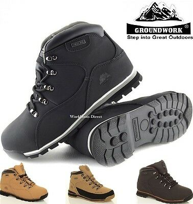 Mens Groundwork Lightweight Steel Toe Cap Safety Work Boots Black Trainers 6-13