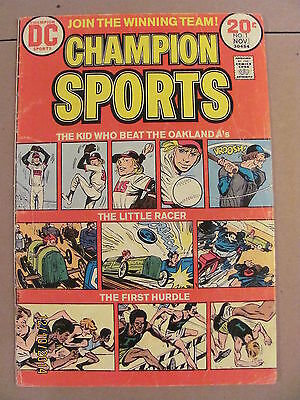 Champion Sports #1 #2 #3 lot DC Comics Bronze Age 1973