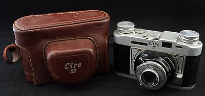 Vintage Graflex Ciro 35mm Rangefinder Film Camera 50mm F3.5 Graftar Lens Case