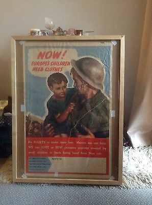 A Vintage Original Large WW2 Propaganda Poster - By Clive Uptton - Fragile