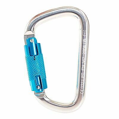 Aluminum Alloy TWIST Carabiner Climbing  LOCKING OVAL SHAPE 25KN Rescue, NEW