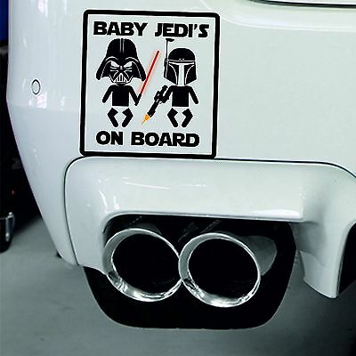 Baby Jedi's on Board Baby on Board Car Sign Window Safety Decal Sticker Vinyl