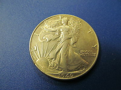 1946  Walking Liberty Silver Half Dollar - Circulated Coin With Excellent Detail