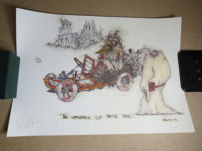 """Signed """"The Hatchback of Notre Dame"""" Print by Tony Ashton (Deep Purple)"""