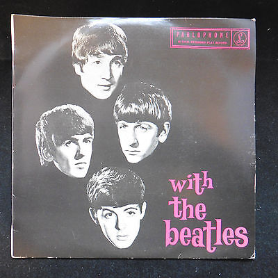 "7"" 45 single With The Beatles EP Australian GEPO 70016 EX/EX+"